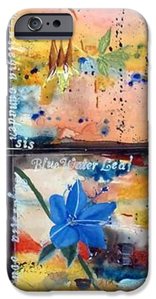 native Texas wildflowers B iPhone Case by Michael Dillon