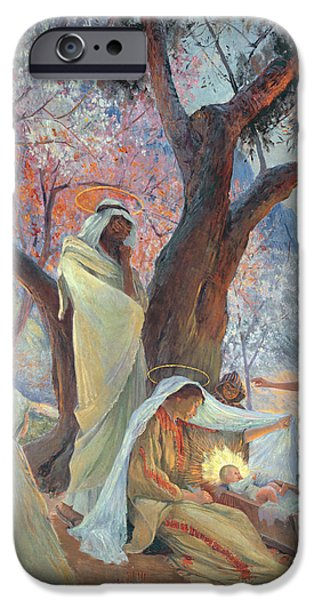 Gospel iPhone Cases - Nativity iPhone Case by Frederic Montenard