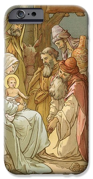 Star Of Bethlehem iPhone Cases - Nativity iPhone Case by John Lawson