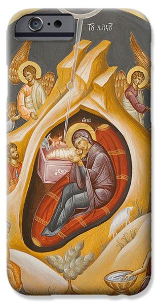 Julia Bridget Hayes iPhone Cases - Nativity of Christ iPhone Case by Julia Bridget Hayes