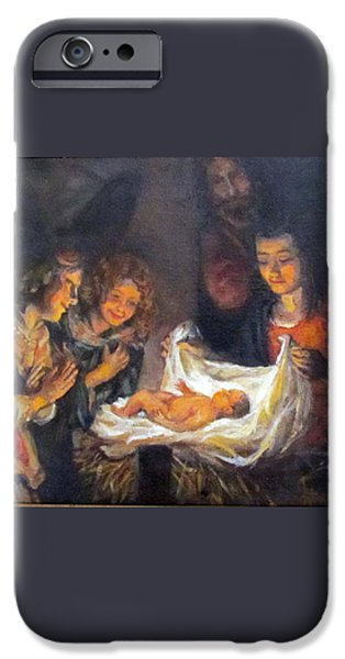 Nativity Scene Study iPhone Case by Donna Tucker