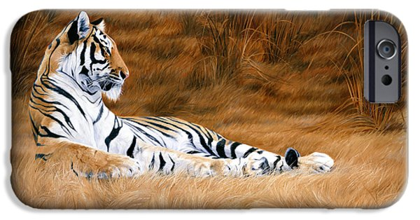 Bengal Tiger iPhone Cases - Natural Beauty iPhone Case by Lucie Bilodeau