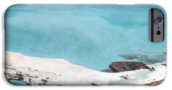 Beach Landscape Drawings iPhone Cases - Natural Bridge Bermuda iPhone Case by Celestial Images