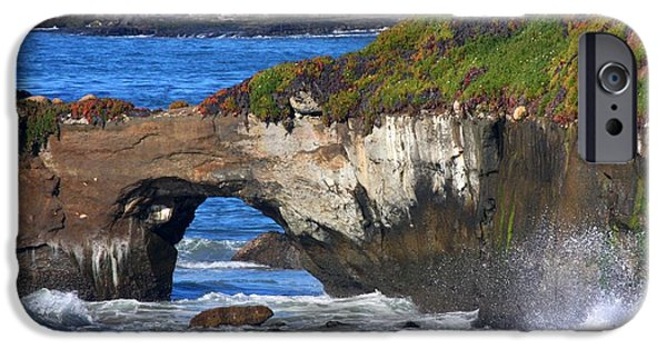 Steamer Lane iPhone Cases - Natural Bridge iPhone Case by Ru Tover