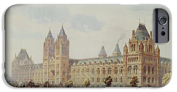 Victorian Drawings iPhone Cases - Natural History Museum  iPhone Case by Alfred Waterhouse