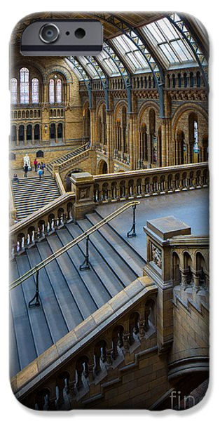 Britain iPhone Cases - Natural History Museum iPhone Case by Inge Johnsson