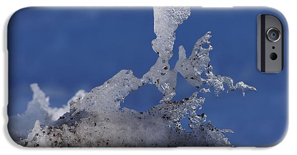 Snow Melt iPhone Cases - Natural Ice Sculpture iPhone Case by Ernie Echols