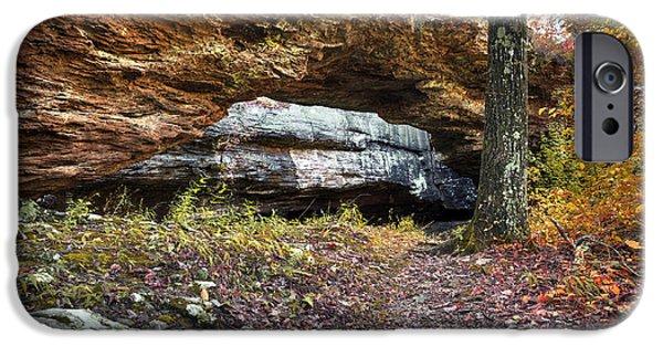 Arkansas iPhone Cases - Natural Rock Bridge iPhone Case by Brandon Alms