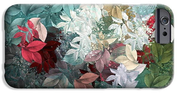 Abstract Digital Art iPhone Cases - Naturaleaves - s20-05b iPhone Case by Variance Collections