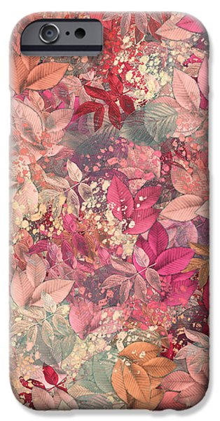 Naturaleaves - s65b iPhone Case by Variance Collections