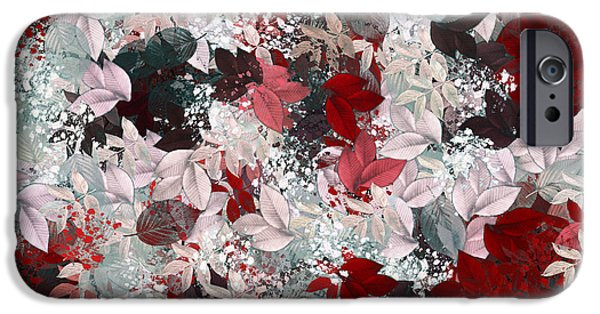 Nature Abstract iPhone Cases - Naturaleaves - s69-02a iPhone Case by Variance Collections
