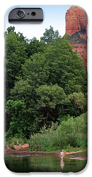 Oak Creek Paintings iPhone Cases - Nature Boy iPhone Case by Ellen Henneke