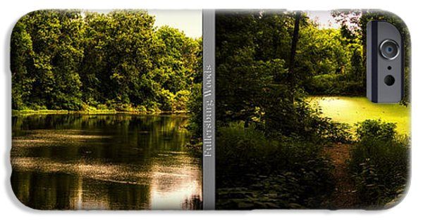 Nature Center Pond iPhone Cases - Nature Center 01 End Of Path Fullersburg Woods 2 Panel iPhone Case by Thomas Woolworth