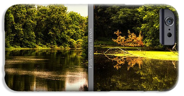 Nature Center Pond iPhone Cases - Nature Center 01 Looking For Breakfast Fullersburg Woods 2 Panel iPhone Case by Thomas Woolworth