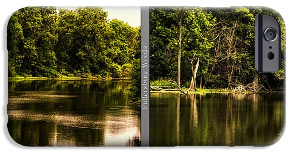 Nature Center Pond iPhone Cases - Nature Center 01 Salt Creek In August Fullersburg Woods 2 Panel iPhone Case by Thomas Woolworth