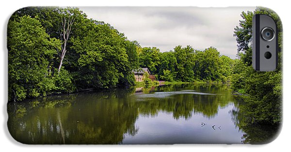 Nature Center Pond iPhone Cases - Nature Center On Salt Creek iPhone Case by Thomas Woolworth
