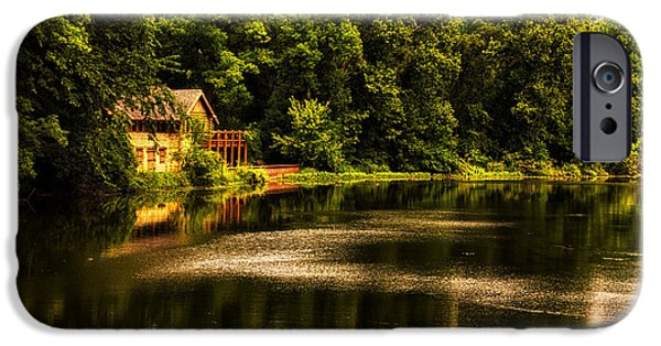 Nature Center Pond iPhone Cases - Nature Center Salt Creek In August iPhone Case by Thomas Woolworth