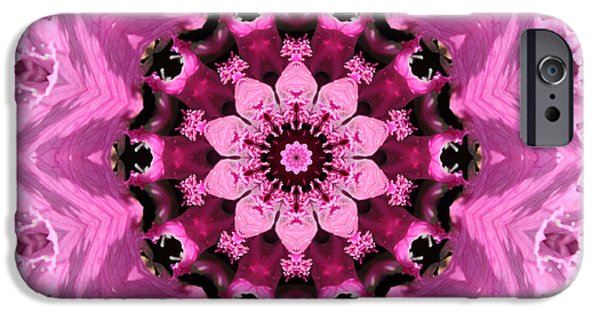 Abstracts From Nature iPhone Cases - Nature Kaleidoscope 1 iPhone Case by Carol Groenen