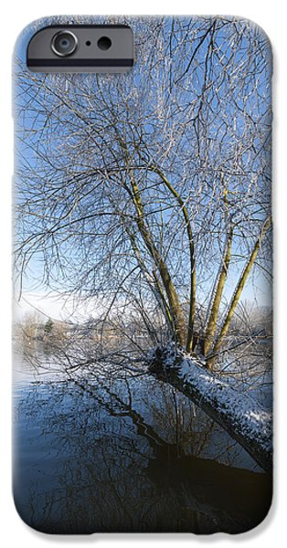 Snowy Stream iPhone Cases - Nature Landscape iPhone Case by Svetlana Sewell