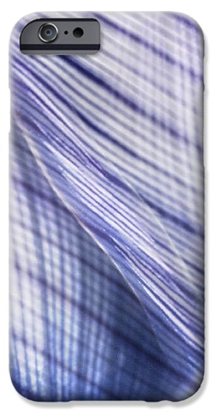 Nature Leaves Abstract in Blue and Purple iPhone Case by Natalie Kinnear