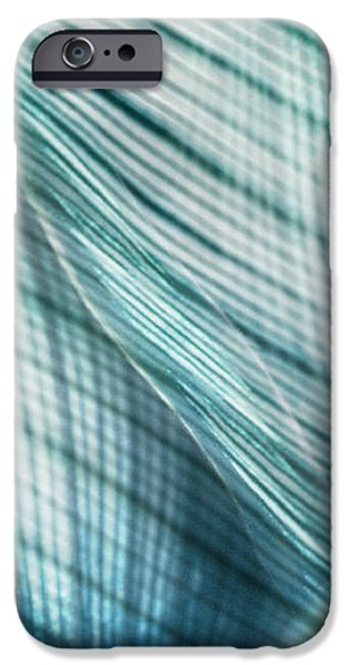 Nature Leaves Abstract in Turquoise and Jade iPhone Case by Natalie Kinnear