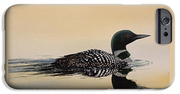 Loon iPhone Cases - Nature So Fair iPhone Case by James Williamson
