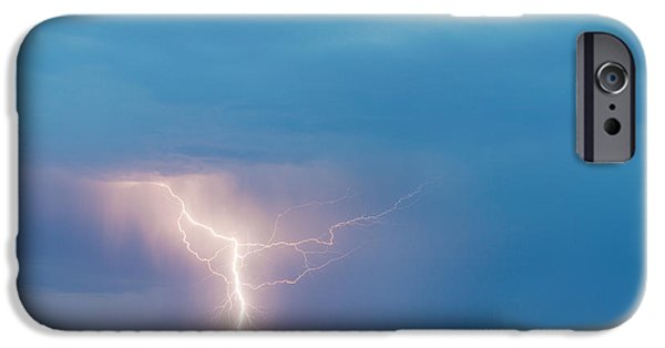 The Lightning Man iPhone Cases - Natures Avenging Spirit  iPhone Case by James BO  Insogna