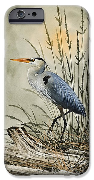 Heron Paintings iPhone Cases - Natures Beauty iPhone Case by James Williamson