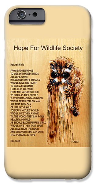 Child Pyrography iPhone Cases - Natures Child iPhone Case by Ron Haist