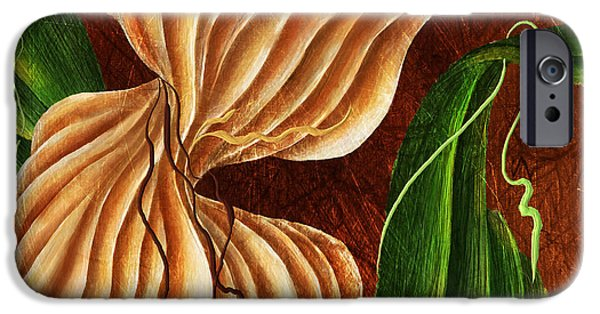 Hattiesburg iPhone Cases - Natures Curves iPhone Case by Brenda Bryant