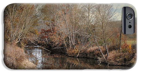 Autumn Scenes iPhone Cases - Natures Glory - Autumn Stream iPhone Case by Jai Johnson