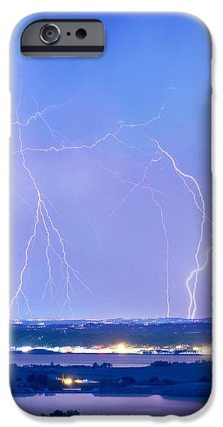 Natures Light Show Over The Boulder Reservoir  iPhone Case by James BO  Insogna