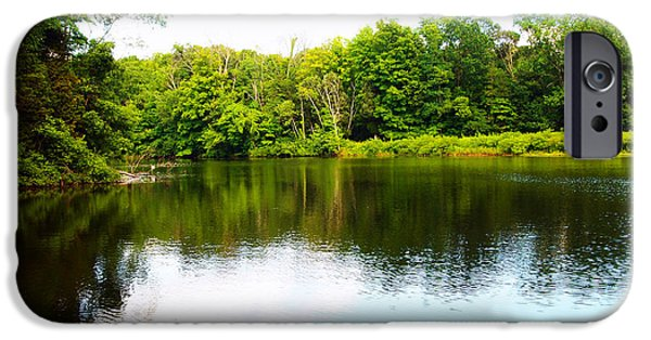 Nature Center Pond iPhone Cases - Natures Mirror iPhone Case by Deborah Fay