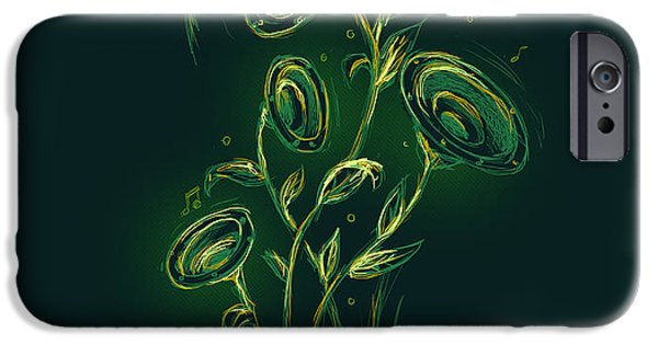 Boxes iPhone Cases - Natures music box iPhone Case by Budi Kwan