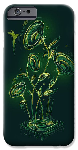 Natures music box iPhone Case by Budi Satria Kwan