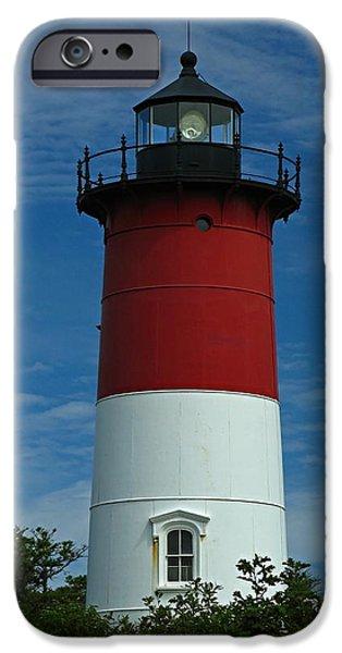 New England Lighthouse iPhone Cases - Nauset Beach Lighthouse iPhone Case by Juergen Roth