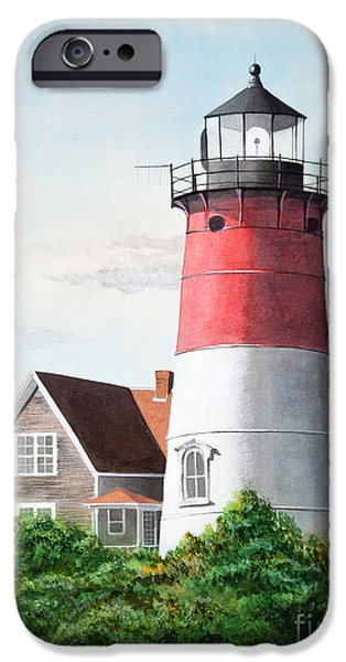 Nauset Beach Memories Watercolor Painting iPhone Case by Michelle Wiarda