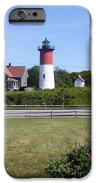 Chatham iPhone Cases - Nauset Light - Chatham iPhone Case by Christiane Schulze Art And Photography