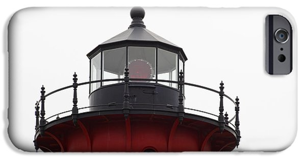 Michelle iPhone Cases - Nauset Lighthouse Detail iPhone Case by Michelle Wiarda