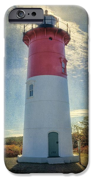 New England Lighthouse iPhone Cases - Nauset Lighthouse iPhone Case by Joan Carroll