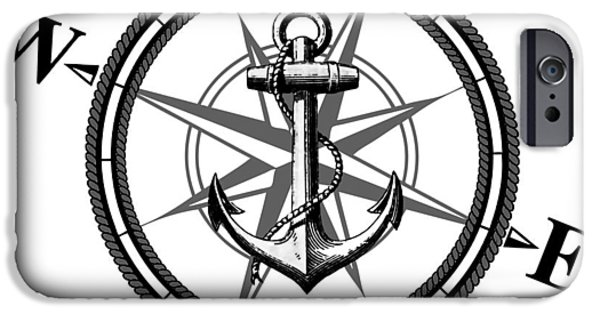 Ship iPhone Cases - Nautica BW iPhone Case by Nicklas Gustafsson