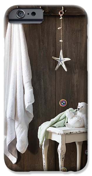 Nautical Bathroom iPhone Case by Amanda And Christopher Elwell