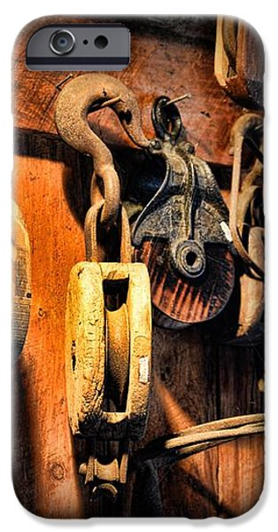 Nautical - Boat - Block and Tackle  iPhone Case by Paul Ward
