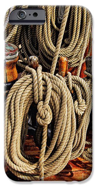 Maine Bounty iPhone Cases - Nautical Knots 16 iPhone Case by Mark Myhaver