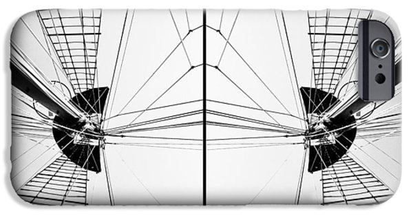 Tall Ship iPhone Cases - Nautical Symmetry iPhone Case by Natasha Marco