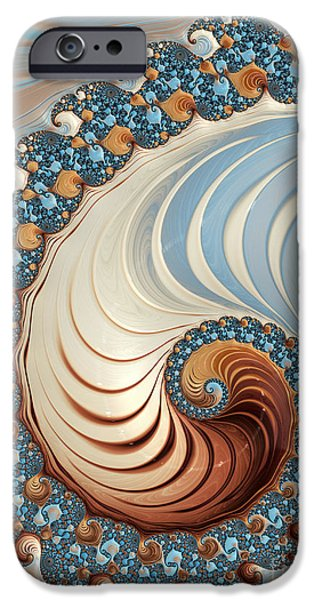 Fractal iPhone Cases - Nautilus  iPhone Case by Heidi Smith