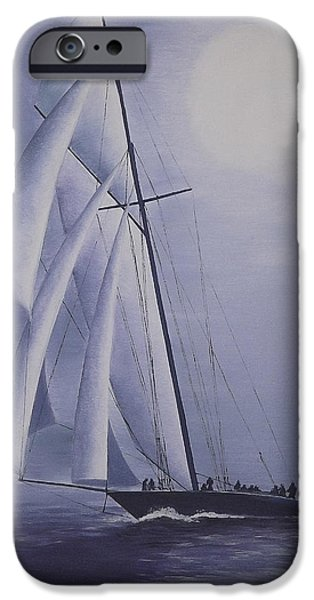 Sailboats iPhone Cases - Navahoe iPhone Case by Andy PYRAH