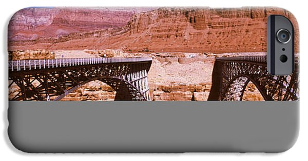 Grand Canyon iPhone Cases - Navajo Bridge At Grand Canyon National iPhone Case by Panoramic Images