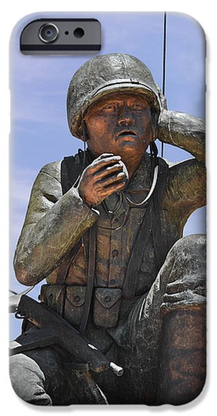 Navajo Code Talkers - Navajo People iPhone Case by Christine Till