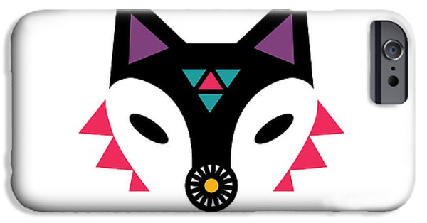 Geometric Animal iPhone Cases - Navajo Fox iPhone Case by Susan Claire